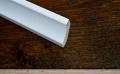 Hohlkehlleisten Massiv  Kiefer 30/30, weiss lackiert